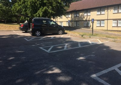 Image description - four disabled parking bays located outside hotel