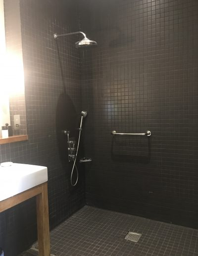 Image - wet room and hand rail in hotel bedroom