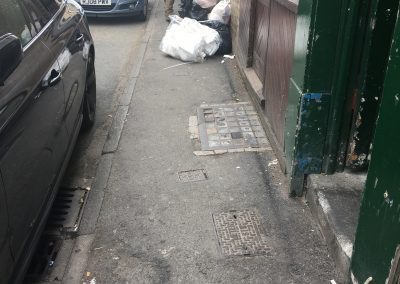 Image - rubbish bins obstructing pathway