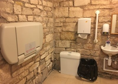 Image - inside downstairs toilet and facilities with baby changing unit